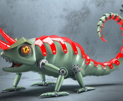Chameleon 3d model from the Code Book Series