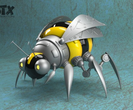 Cyberbee 3d model from Alien adventures book series