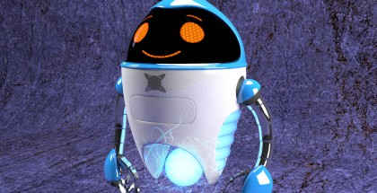 Seven Robot helper from the alien adventure book series