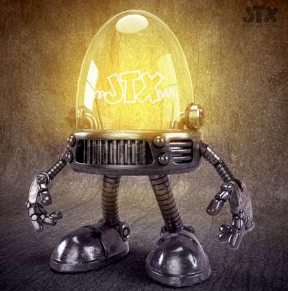Little Robot Light Bulb