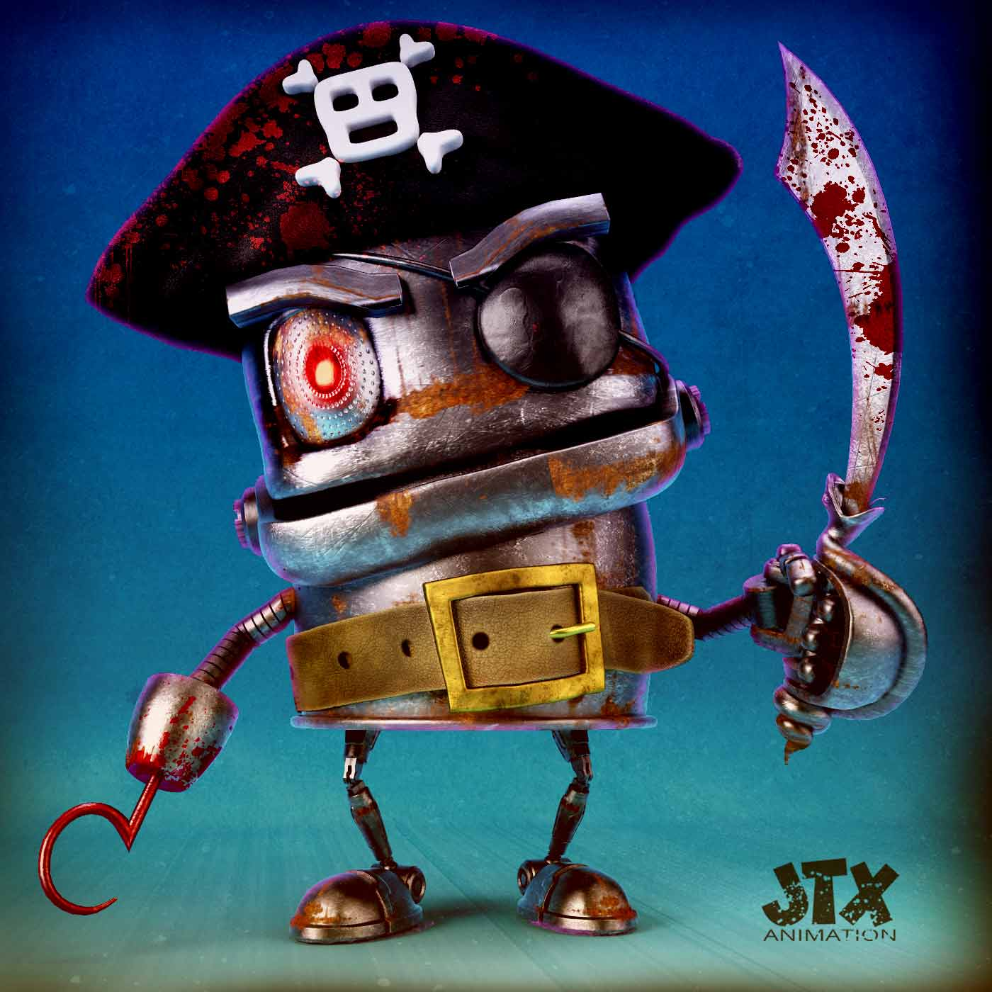 3D Robot Pirate