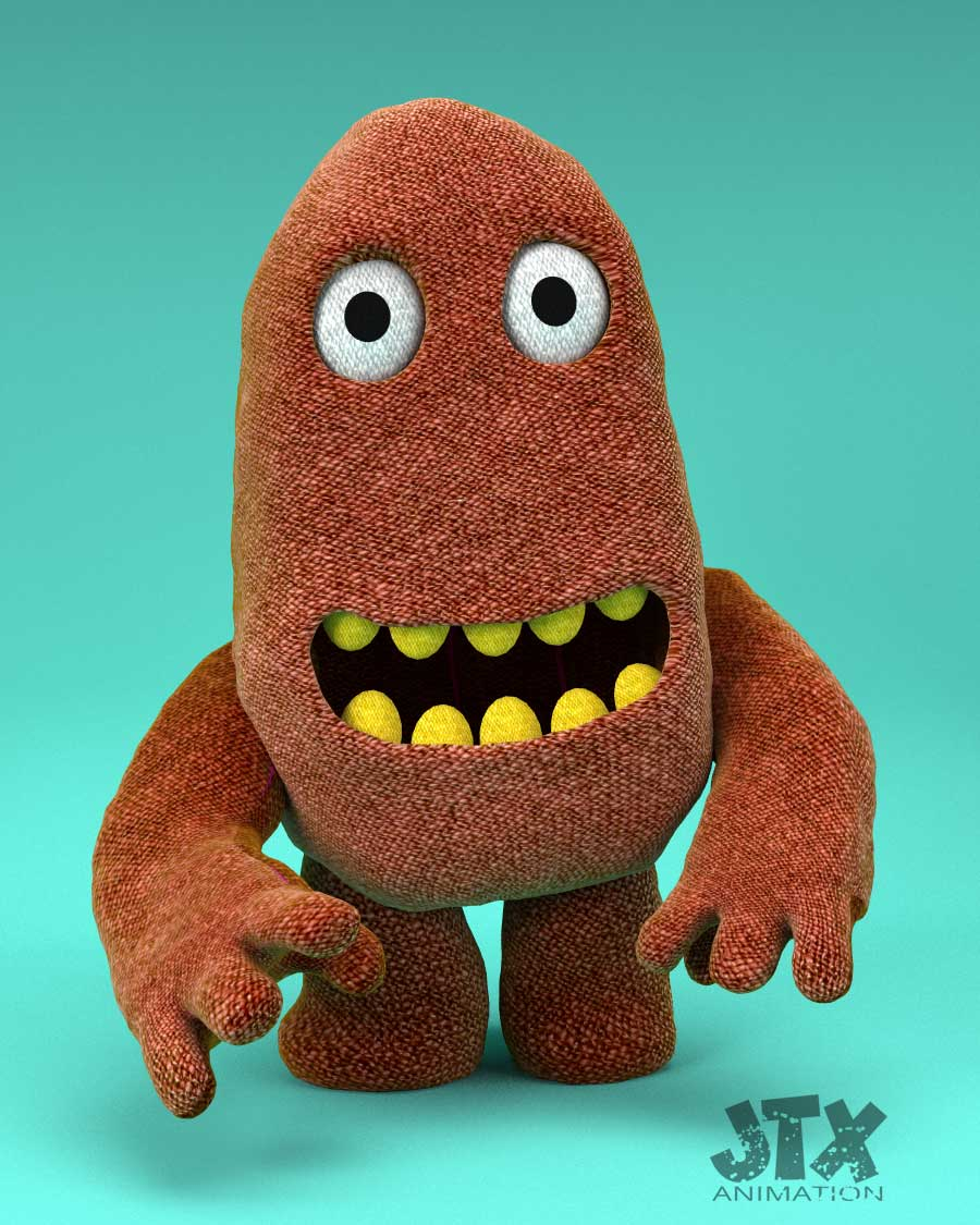 Fred Greeble 3d character